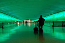detroit airport pedestrian tunnel